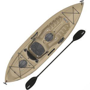 Lifetime-Tamarack Angler-100 fishing-kayak with paddles