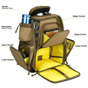 Piscifun Fishing Tackle Backpack Large Capacity Waterproof Fishing Tackle Bag