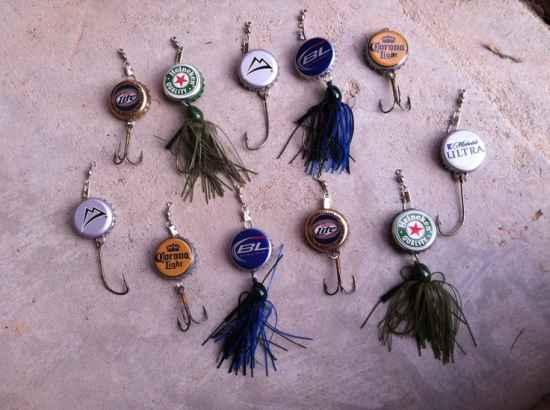 bottle cap fishing lures