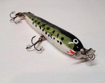 handpainted topwater wooden fishing lure