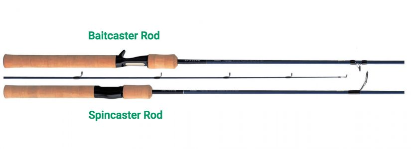 Baitcaster Rod vs spincaster rod