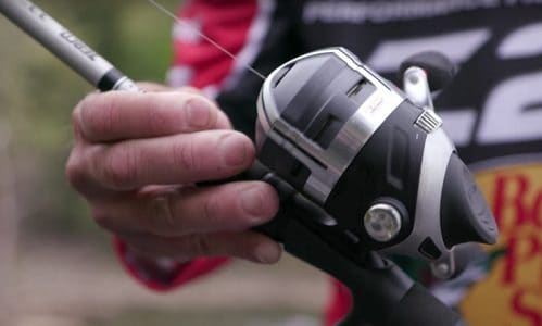 spincast reel for largemouth bass fishing